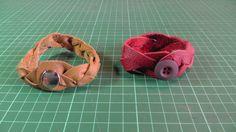 Aus Lederreste kann kann man tolle Flechtarmbänder machen.