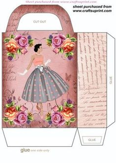 1920s fashion gift bag