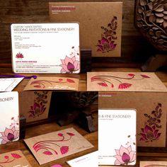 Laser Cut Lotus Ivy & Lotus motifs on khakhi cardboard sheet. pink paper pasted on background