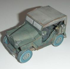 Created by Russian designer and modeler Robototehnik-Paper , this is the  GAZ-67B , a  general purpose four wheel drive Soviet military veh...