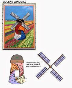 Irisvouwen: Windmill