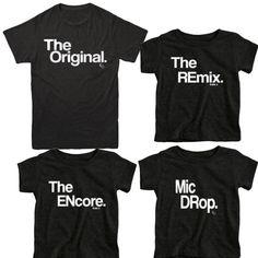 Väter Tag Geschenk passende Familie Shirts Original und Remix