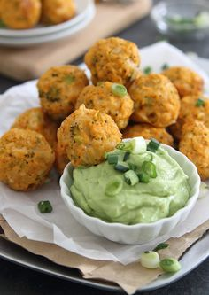 Buffalo Chicken Cheddar Bites - All the traditional flavors of Buffalo Chicken Wings but with a lot less calories.  Incredibly flavorful, easy to make and a lot less messy than wings.