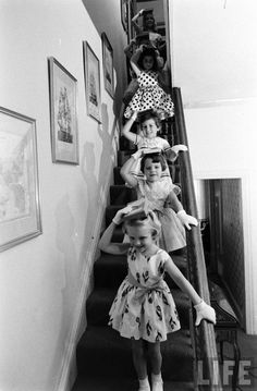 Moppets Charm School Shot by Arthur Rickerby in 1962 for LIFE