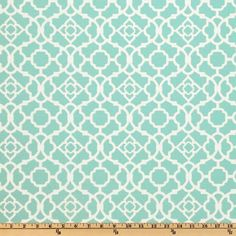 Waverly Lovely Lattice Lagoon Outdoor Fabric, Aqua Blue Geometric Fabric, Outdoor Pillows Material, Aqua Blue Upholstery Fabric by the yard No Sew Curtains, Drop Cloth Curtains, Rustic Curtains, Floral Curtains, How To Make Curtains, Curtain Fabric, Kitchen Curtains, Window Curtains, French Curtains