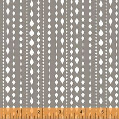 Ninjas Don't Sweat - Ninja Stripe in Grey - Half Yard Cotton Fabric #WindhamFabrics
