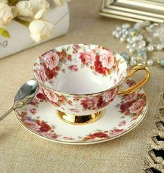 I just love this pretty Chintzware Tea Cup and Saucer!!! Bebe'CTBelle!!! How very pretty!!!