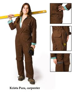 Women's work coveralls from Rosies workware https://rosiesworkwear.com/shop/product-info.php?pid11.html