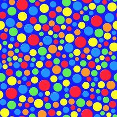 Stoffdesign: Bunte Punkte auf blauem Hintergrund