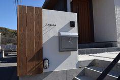外壁に表札を施工