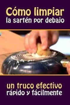 Cómo limpiar la sartén por debajo #limpiar #tips #culodesarten