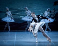 """Alisa Sodoleva (Odette/Odile) and Leonid Sarafanov (Prince Siegfried) in the Mikhailovsky Ballet's """"Swan Lake"""". Photos by Jack Devant"""