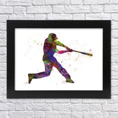 """Hráč+baseballu+Tisk+originální+akvarelové+grafiky+velikosti+A4.+(pro+rámečky+nebo+pasparty+21x30+cm)+Odpalující+hráč+baseballu.+Jde+o+moji+originální """"watercolor+art""""+ilustraci.+Vytištěno+na+profesionální+tiskárně+na+značkový+fotografický+papír+Glossy+o+gramáži+minimálně 200+g/m2. Tiskárna+využívá+systém+ChromaLife100+,+který+je+zárukou+vysoké+odolnosti+tisků+..."""