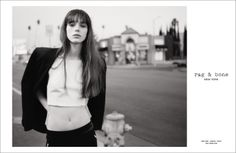 Stacy Martin for rag & bone's S/S 2014 Campaign, shot by Glen Luchford