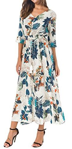 New KorMei Womens Button Up Split Floral Print Flowy Party Long Bohemian Maxi Dress online. Find great deals on Gigileer Dresses from top store. Sku onyo82207mzqf85767