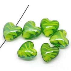 Promotional Events, Swirls, Illusions, Glass Beads, Artisan, Objects, Shapes, Create, Green