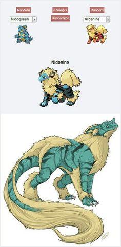 Pokémon Fusion: Nidoqueen + Arcanine = Nidonine