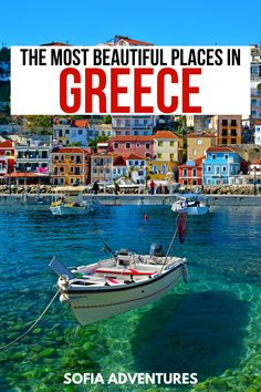 50 Fabulous Places to Visit in Greece: Local Favorites & Hidden Gems - Sofia Adventures Wondering wh Greece Vacation, Greece Travel, Greek Islands Vacation, Greece Trip, Visit Greece, Most Beautiful Greek Island, Beautiful Places, Cool Places To Visit, Places To Travel