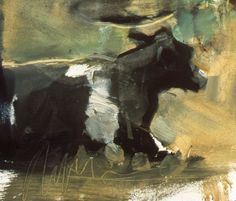 cow 1977 oil on paper LN