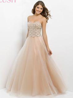 1725f99b72c Champagne Beaded Bodice Prom Gown Pink By Blush 5302   DressProm.net Blush  Prom Dress