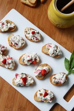 For your next summer get together! Strawberry Basil Goat Cheese Spread with Walnuts - served on crunchy toasts or crackers and drizzled with honey. Recipe from Best Peanut Butter Brand, Peanut Butter Brands, Appetizer Recipes, Snack Recipes, Cooking Recipes, Snacks, Cheese Spread, Strawberry Recipes, Appetisers