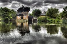 Houghton Mill is a water mill located on the Great Ouse in Houghton, Cambridgeshire, England. It is a National Trust property.The Mill was probably built in the 17th century, and was extended in the 19th century. In the 1930s, the mill was decommissioned.