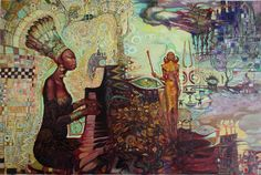Nina Simone (Black Gold)  by Luigi Di Giammarino