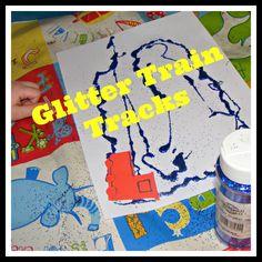 Glitter Glue Train Tracks
