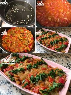 Köz Patlıcan Salatası (Kavurularak) Malzemeler 3 büyük boy patlıcan 3 orta boy domates 2 adet közlenmiş kırmızı biber 3-4 adet közlenmiş yeşil biber 2 d... - f. özbağ - Google+