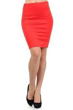 Sexy High Waist Stretchy Tight Bodycon Mini Skirt Open Slit Back Pencil Skirt