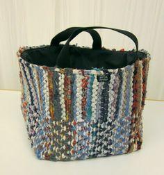 INTOA design - Räsykori Locker Hooking, Woven Rug, Diaper Bag, Upcycle, Recycling, Weaving, Textiles, Boutique, Purses
