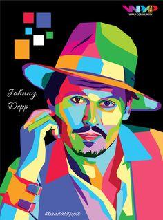 Johnny Depp WPAP by skandaldjepit on DeviantArt