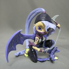 "Amazon.com: Jasmine Becket-Griffith ""Hotaru, Lightning Dragon Ninja Clan"" Japanese Art-Inspired Fairy Figurine: Furniture & Decor"