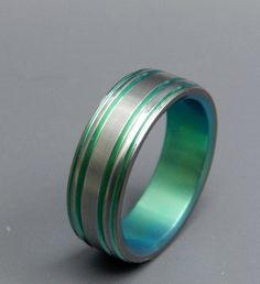 wedding rings titanium rings wood rings by MinterandRichterDes