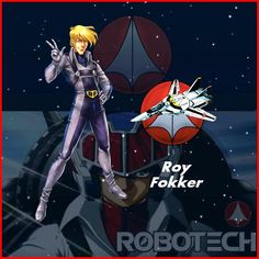 Exclusive Robotech Identification card: Roy Fokker Figure. (character by Francisco Etchart)