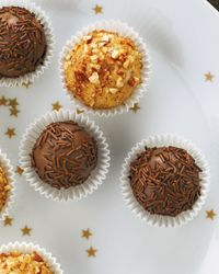 Brazilian Rich Chocolate Truffles : These chewy, sprinkles-coated balls (called brigadeiros in Portuguese) are more like chocolate caramels than French-style truffles. (Food)