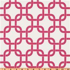 Premier Prints Gotcha White/Candy Pink  Item Number: EU-117  Our Price: $7.48 per Yard