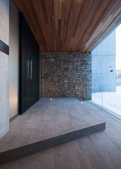 Main Entrance Door, House Entrance, Modern House Design, Zen Design, Japanese Modern House, Home Design Images, Brick Works, Modern Architects, Minimal Home