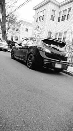 All black ERR thing Mazdaspeed 3 Hatchbacks, Mazda 3, Jdm, Rally, Passion, Goals, Black, Design, Automobile