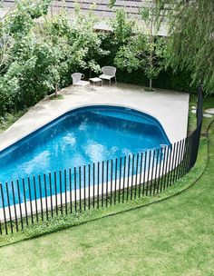 Inground pool fence a hidden architectural dream home in awesome pool designs pool fence pool landscaping . Backyard Pool Landscaping, Swimming Pools Backyard, Swimming Pool Designs, Backyard Fences, Garden Pool, Backyard Ideas, Diy Pool Fence, Fence Around Pool, Backyard Ponds