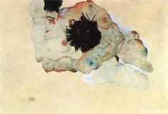 "asolitarycomfort:  Egon Schiele ""Study of a couple"""