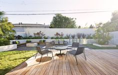 gorgeous backyard seating area