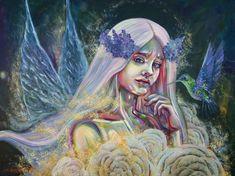 Forest Fairy by Nino Ponditerra Mystical Forest, Forest Fairy, Deep Forest, Fantasy Paintings, Oil Paintings, Modern Portraits, Forest Painting, Beautiful Fairies, Fairy Art
