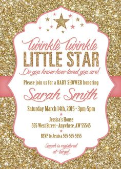 Create the perfect baby shower with the Twinkle Twinkle Little