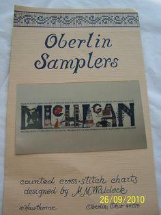 Oberlin Samplers Michigan counted cross stitch pattern by sewalike