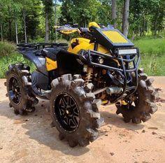 Can Am 4x4 mud bog custom quad Can Am Atv, 4x4, Atv Riding, Honda, Atv Four Wheelers, Quad Bike, Dirtbikes, Outdoor Toys, Go Kart