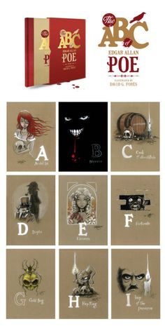 The ABC of E.A. Poe - A limited edition illustrated tribute by David G. Forés