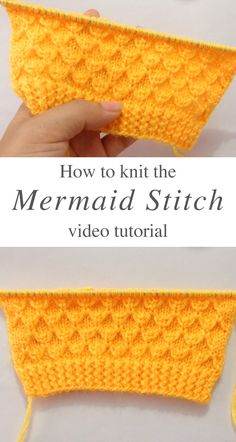 Knit Mermaid Stitch For Gents Sweater This video tutorial will teach you the knit mermaid stitch, that you can use to make a sweater for a special gentleman in your life. Knitting Stiches, Knitting Videos, Easy Knitting, Loom Knitting, Knitting Projects, Crochet Stitches, Knitting Stitch Patterns, Knitting Tutorials, Knit Patterns