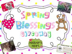Heathers Heart: Spring Blessings Giveaway- Enter to win Target and TpT gift cards!