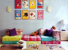Decor Inspiration - Floor Cushions In A Kids Room